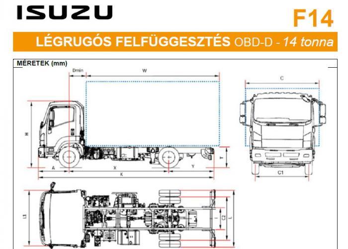 Isuzu F14 Mechanikus felfüggesztések