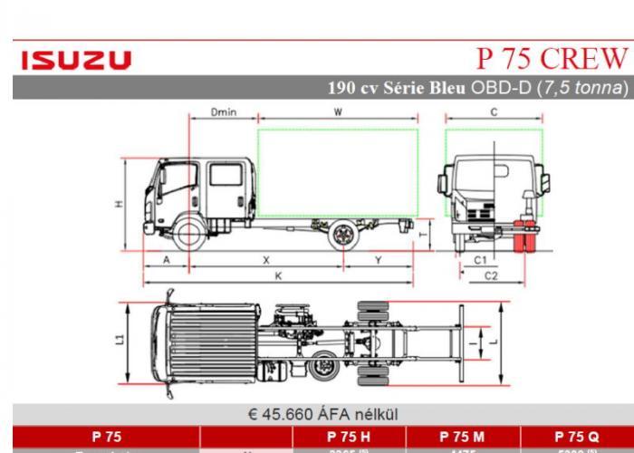 Katalógus Isuzu P75 190 hp CREW